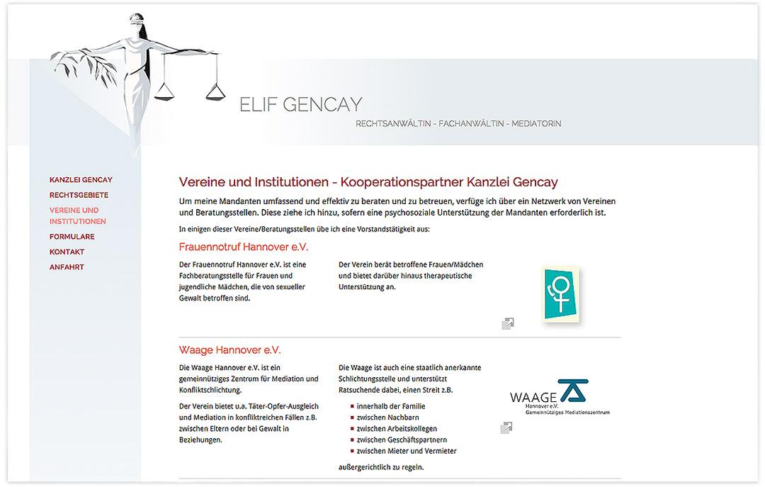 Website RA Elif Gencay - Vereine und Institutionen - Artwork3